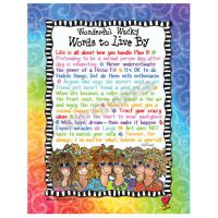 Wonderful Wacky Words to Live By – Note Cards