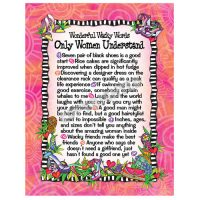 Wonderful Wacky Words Only Women Understand – Note Cards