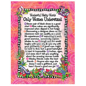 Words Only Women Understand - Note Card