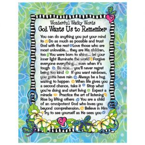 God wants us to understand - note cards