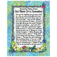 Wonderful Wacky Words God Wants to Remember – Note Cards