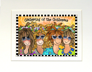 Gathering of the Goddesses Art Print matted