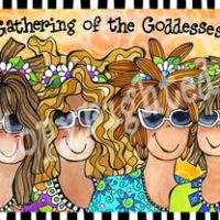 """Gathering of the Goddesses – 8 x 10 Matted """"Gifty"""" Art (with Story on the Back)"""