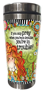 Pray Stainless steel tumbler - FRONT