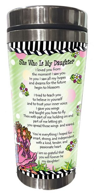 She Who is My Daughter - stainless steel tumbler - BACK