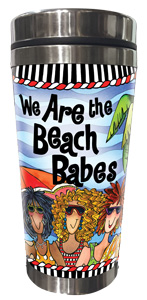 We are the Beach Babes Stainless Steel Tumbler - FRONT