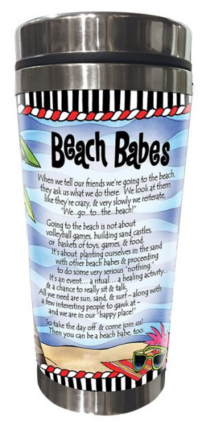 We are the Beach Babes Stainless Steel Tumbler - BACK