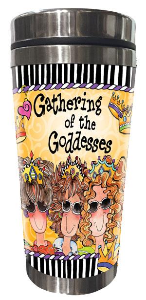 Gathering of the Goddesses Stainless Steel Tumbler (3 girls)