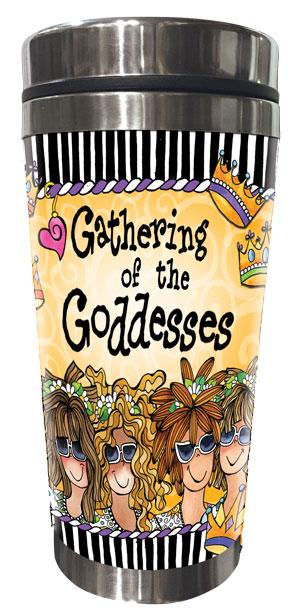 Gathering of the Goddesses Stainless Steel Tumbler (5 girls)