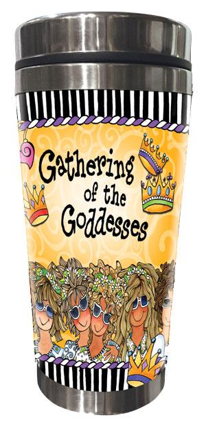 Gathering of the Goddesses Stainless Steel Tumbler (9 girls) - FRONT