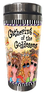 Gathering of the Goddesses Stainless Steel Tumbler - FRONT
