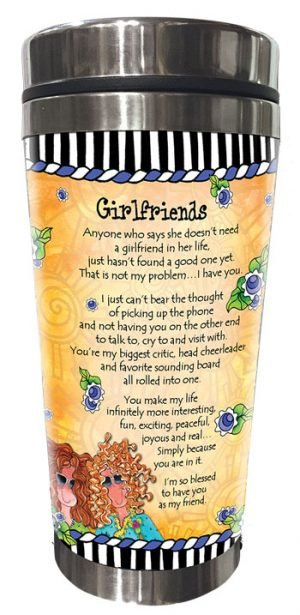 Girlfriends Stainless Steel Tumbler - BACK