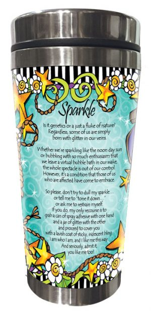 Sparkle - Stainless Steel Tumbler - BACK