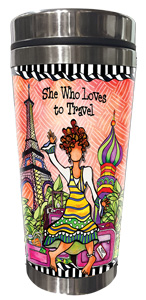 Loves to Travel Stainless Steel Tumbler - FRONT