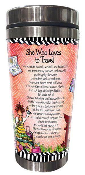 Loves to Travel Stainless Steel Tumbler - BACK