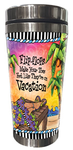 Vacation Toes - Stainless Steel Tumbler - FRONT