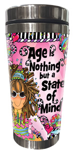 Age is Nothing but a State of mind Tumbler - FRONT