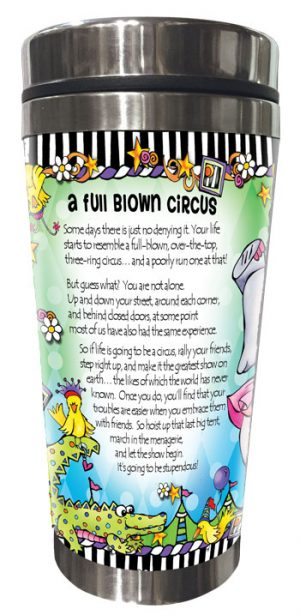 Full Blown Circus - Stainless Steel Tumbler - BACK