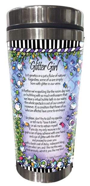 Glitter / Sparkle - Stainless Steel Tumbler - BACK