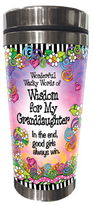 wisdom for my Granddaughter - stainless steel tumbler - FRONT