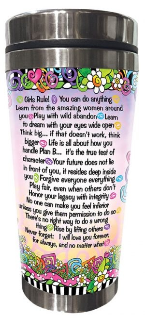 wisdom for my Granddaughter - stainless steel tumbler - BACK