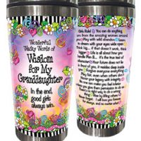 Wonderful Wacky Words of Wisdom for My Granddaughter – 16oz. Stainless Steel Tumbler