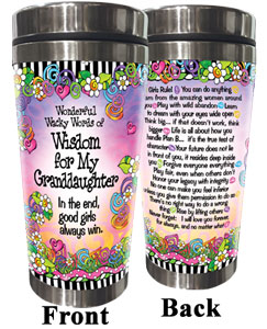 wisdom for my Granddaughter - stainless steel tumbler