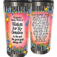 Wonderful Wacky Words of Wisdom for My Grandson – Stainless Steel Tumbler