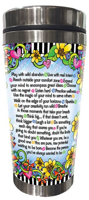 Dare to be Remarkable Stainless Steel Tumbler - BACK