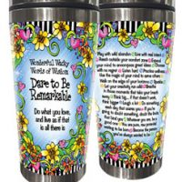 Wonderful Wacky Words Dare to be Remarkable – 16oz. Stainless Steel Tumbler