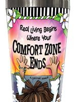 Real Living Begins Where Your Comfort Zone Ends – Stainless Steel Tumbler