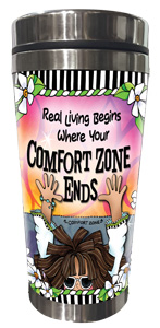 Comfort Zone - Stainless Steel Tumbler - FRONT
