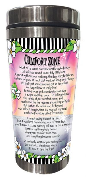 Comfort Zone - Stainless Steel Tumbler - BACK