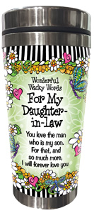 Words of Wisdom for my Daughter -in-Law- Stainless Steel Tumbler - FRONT