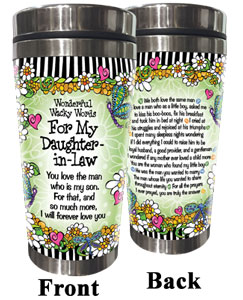 Words of Wisdom for my Daughter -in-Law- Stainless Steel Tumbler