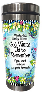 God want Us to Remember - Stainless Steel Tumbler - FRONT