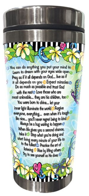 God want Us to Remember - Stainless Steel Tumbler - BACK