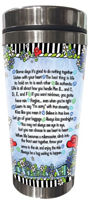 Wisdom for a Good Marriage - Stainless Steel tumbler - BACK