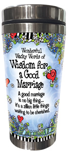Wisdom for a Good Marriage - Stainless Steel tumbler - FRONT