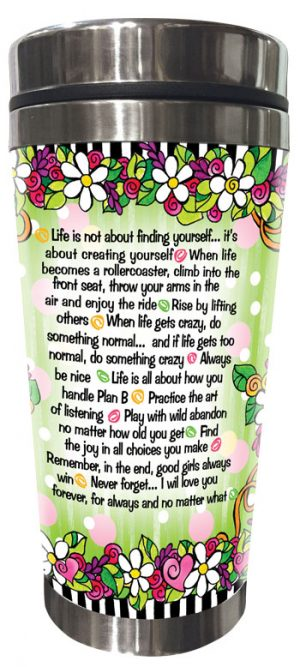 Words of Wisdom for my Daughter - Stainless Steel Tumbler - BACK