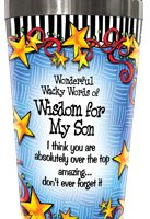 Wonderful Wacky Words For My Son – 16oz. Stainless Steel Tumbler