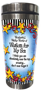 WORDs of Wisdom for my Son - Stainless Steel Tumbler - FRONT