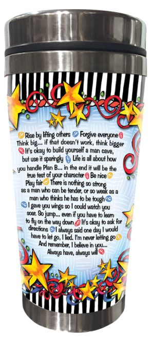 WORDs of Wisdom for my Son - Stainless Steel Tumbler -