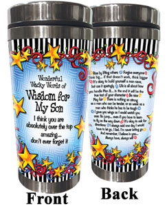 WORDs of Wisdom for my Son - Stainless Steel Tumbler