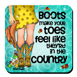 Country Boots coaster