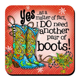 Another Pair of Boots coaster