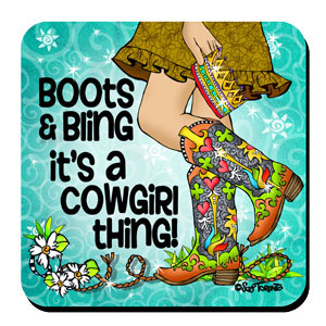 boots and bling coaster