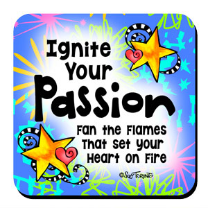 Ignite Your Passion Fan the Flames that set your Heart of Fire – Coaster