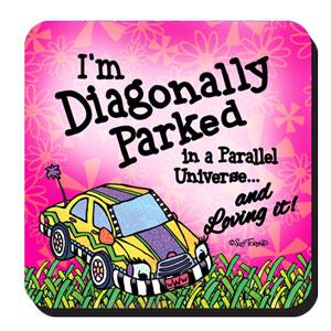 Diagonally Parked coaster