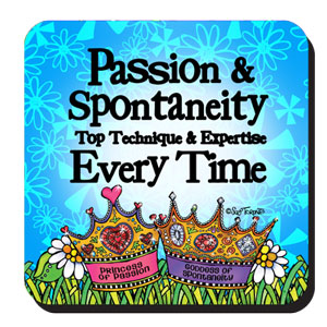 passion and spontaneity coaster